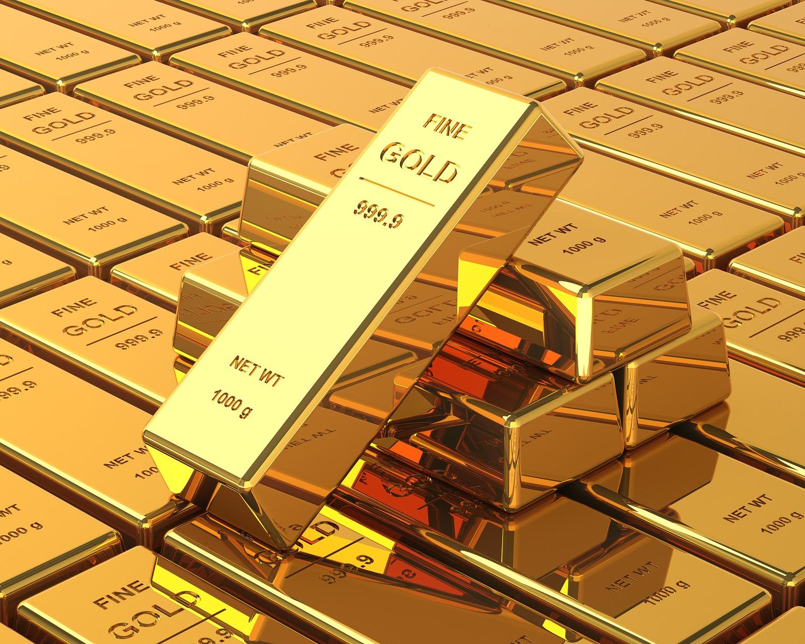 Kilogram of Fine Gold Bars