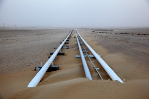 Oil Pipeline in Qatar