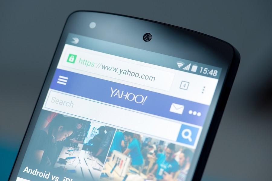 Yahoo Website On Google Nexus 5