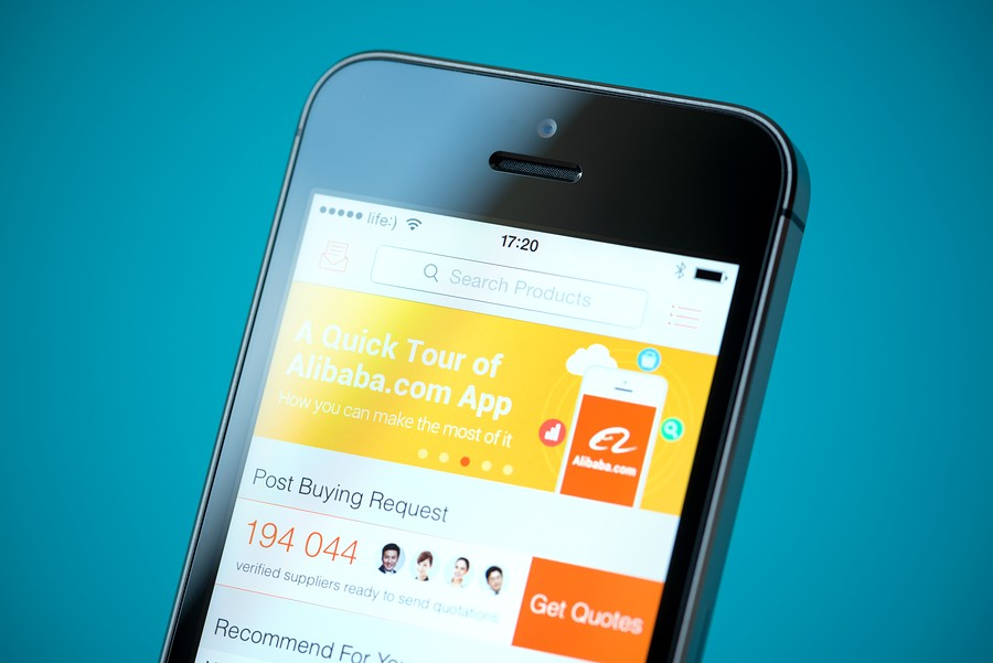alibaba app on iphone