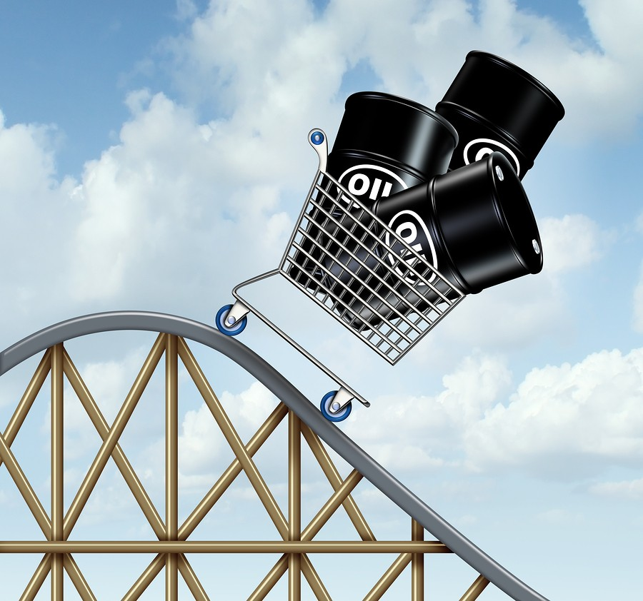 falling oil prices - roller coaster