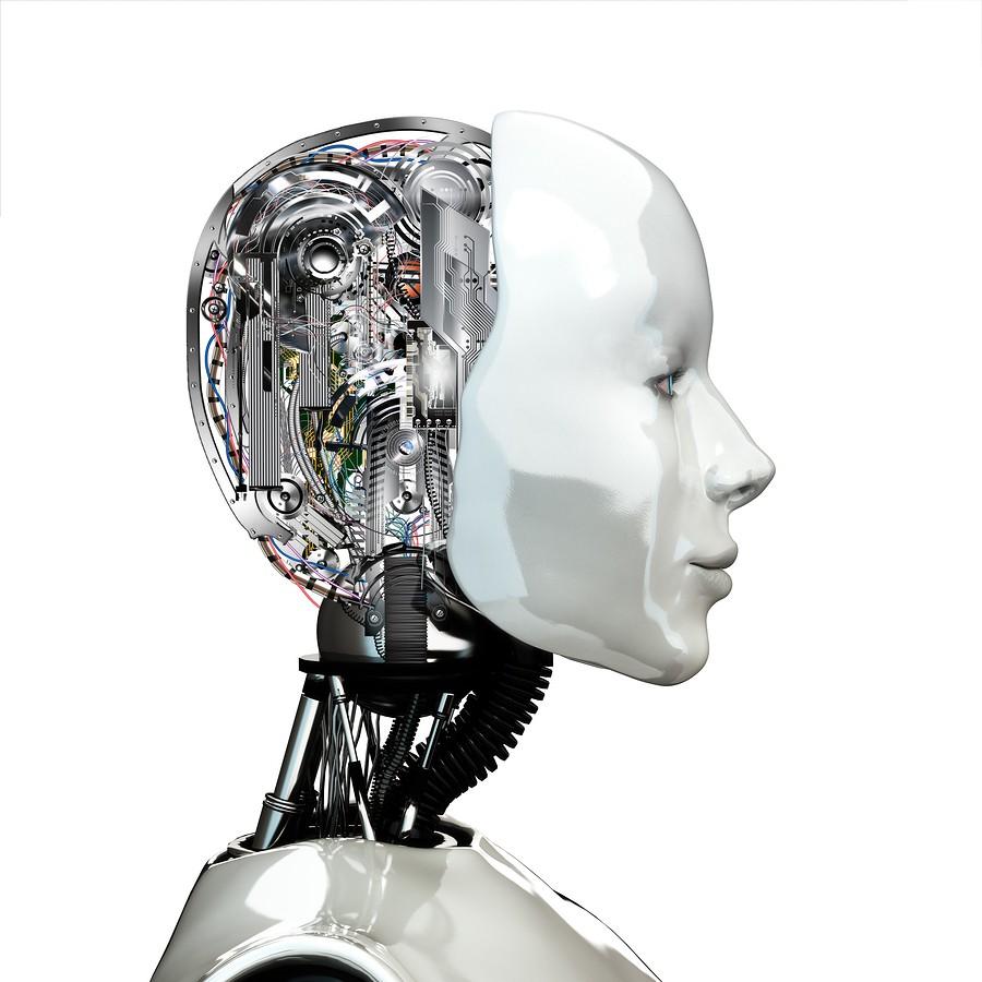robot woman head