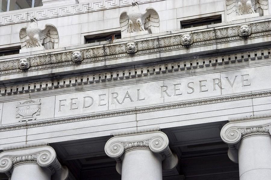 federal reserve facade