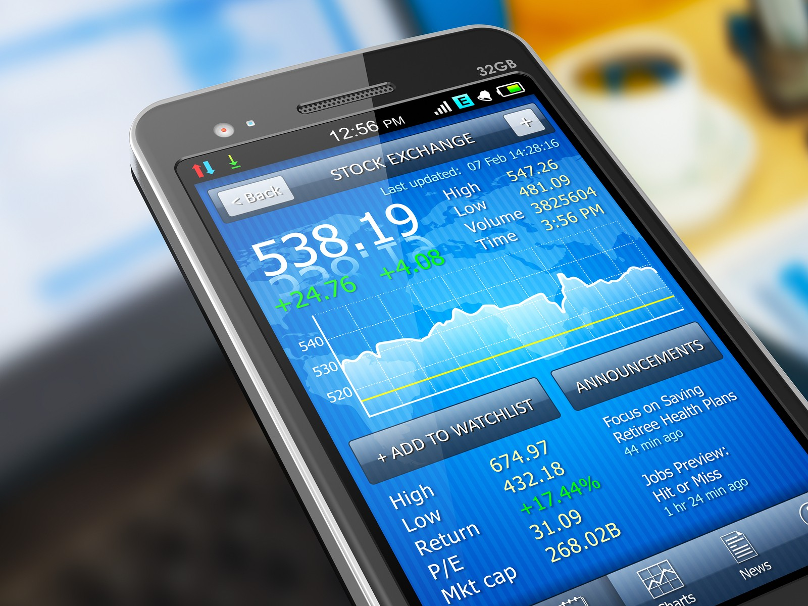 stock market app on android phone