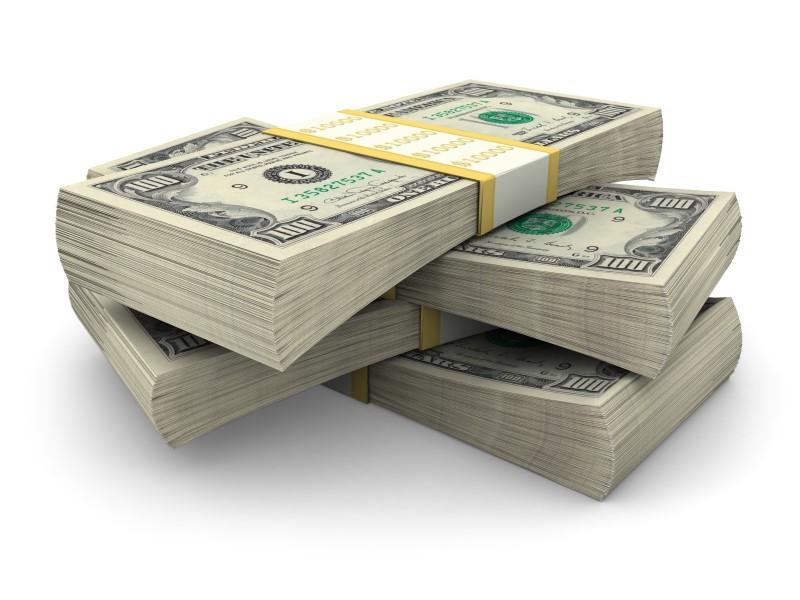 stack of 100 dollar bank notes