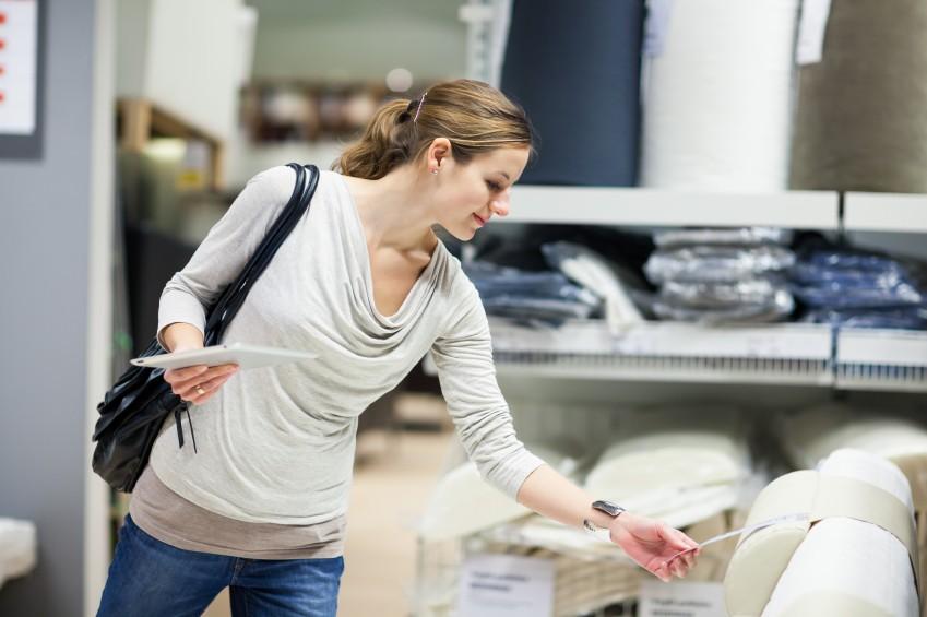 Woman shopping at Ikea