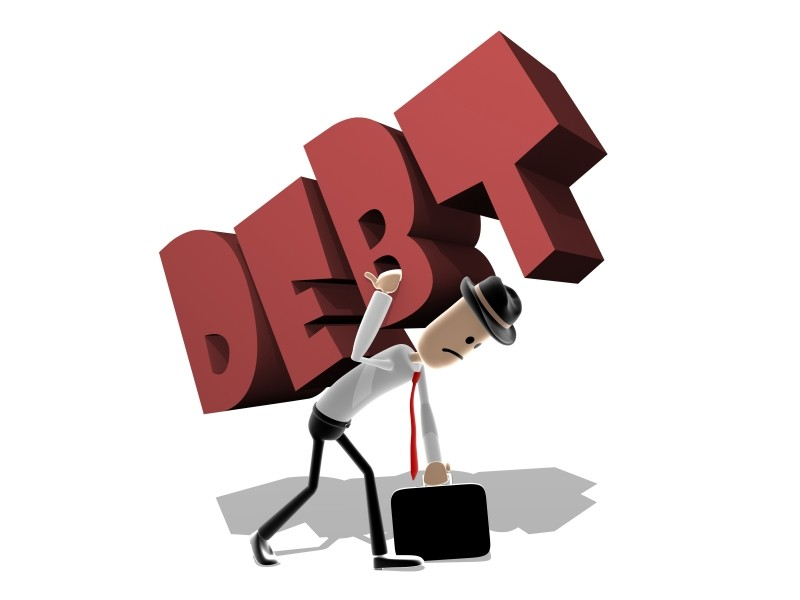 man with large debt
