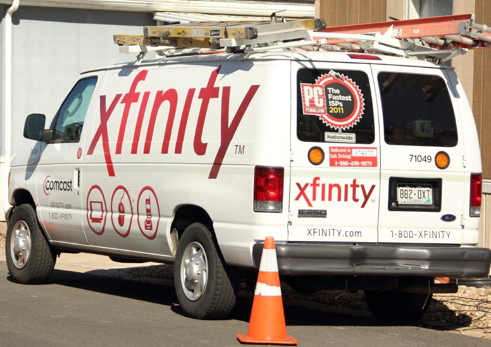 Xfinity Service Van