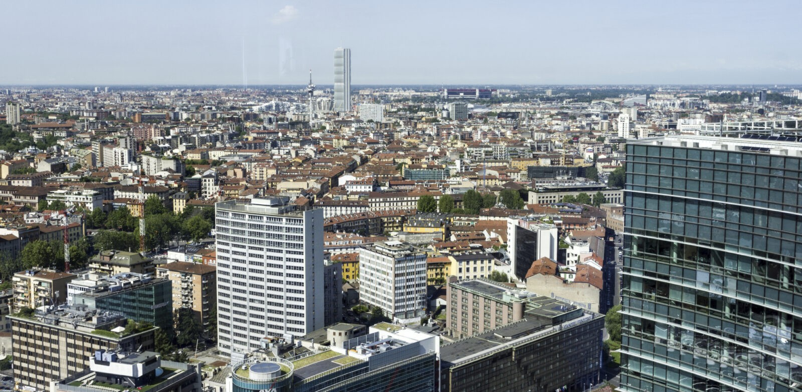 Milan Italy Aerial View