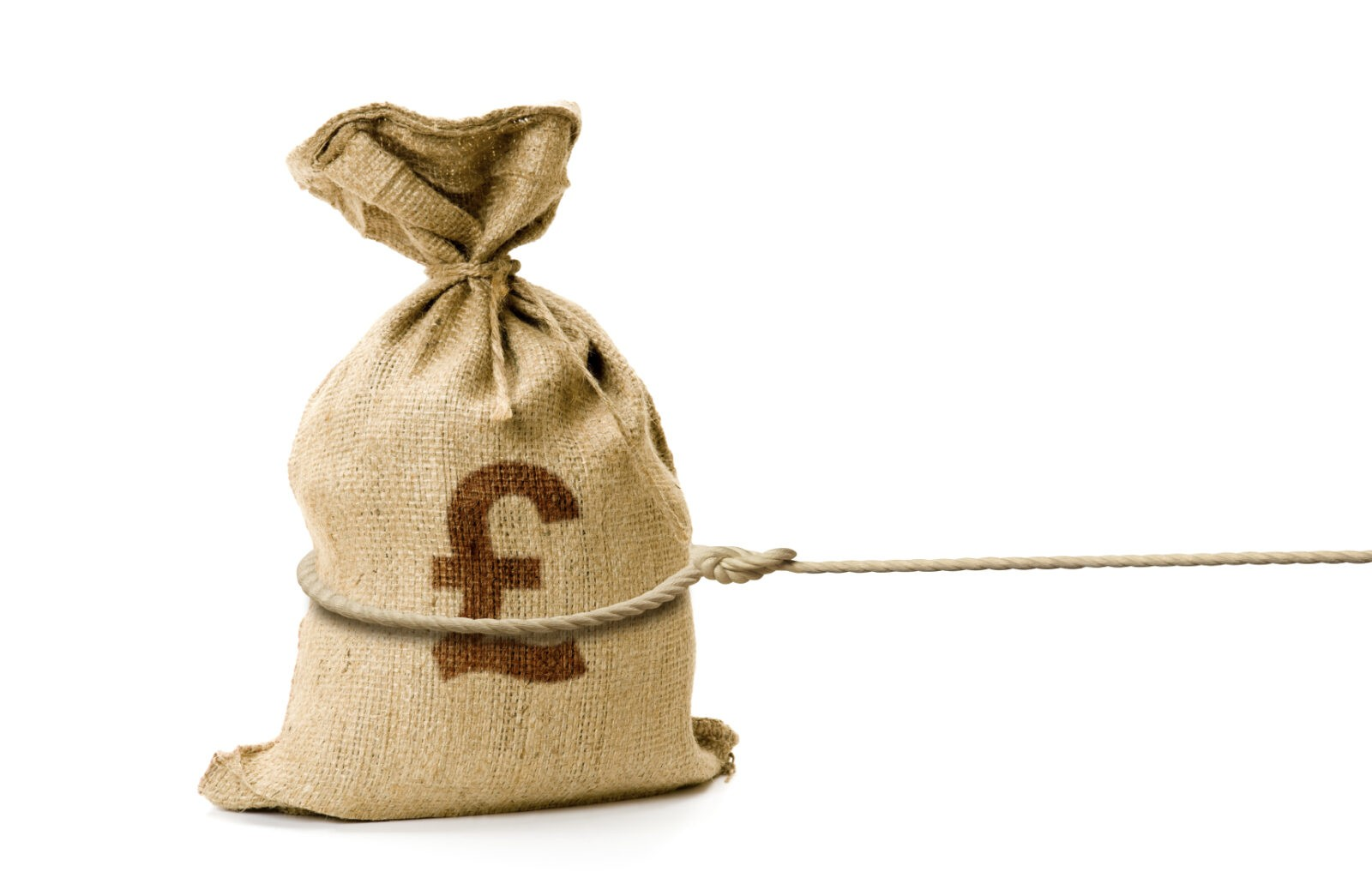 british currency in sack
