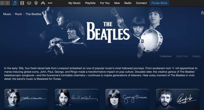 The Beatles Music Streaming