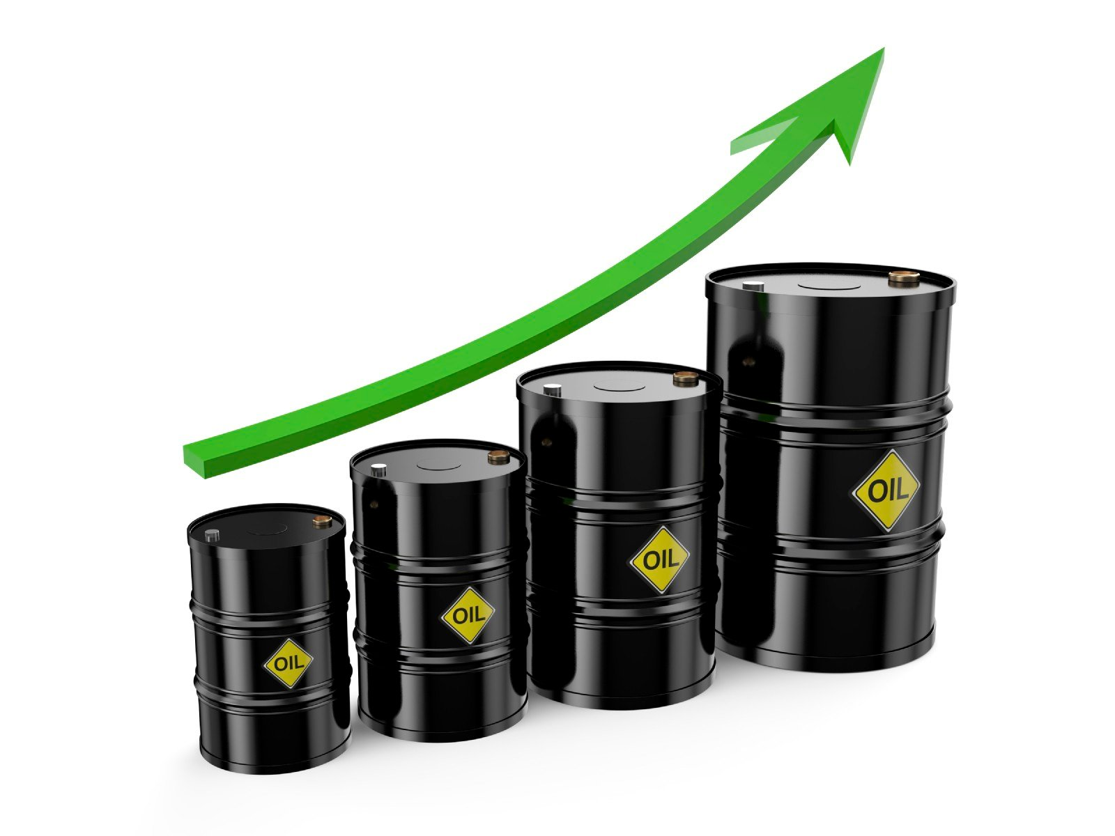 barrel crude graph price rising