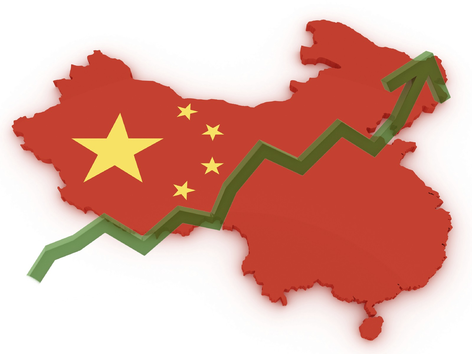 china 3d map stock markets up