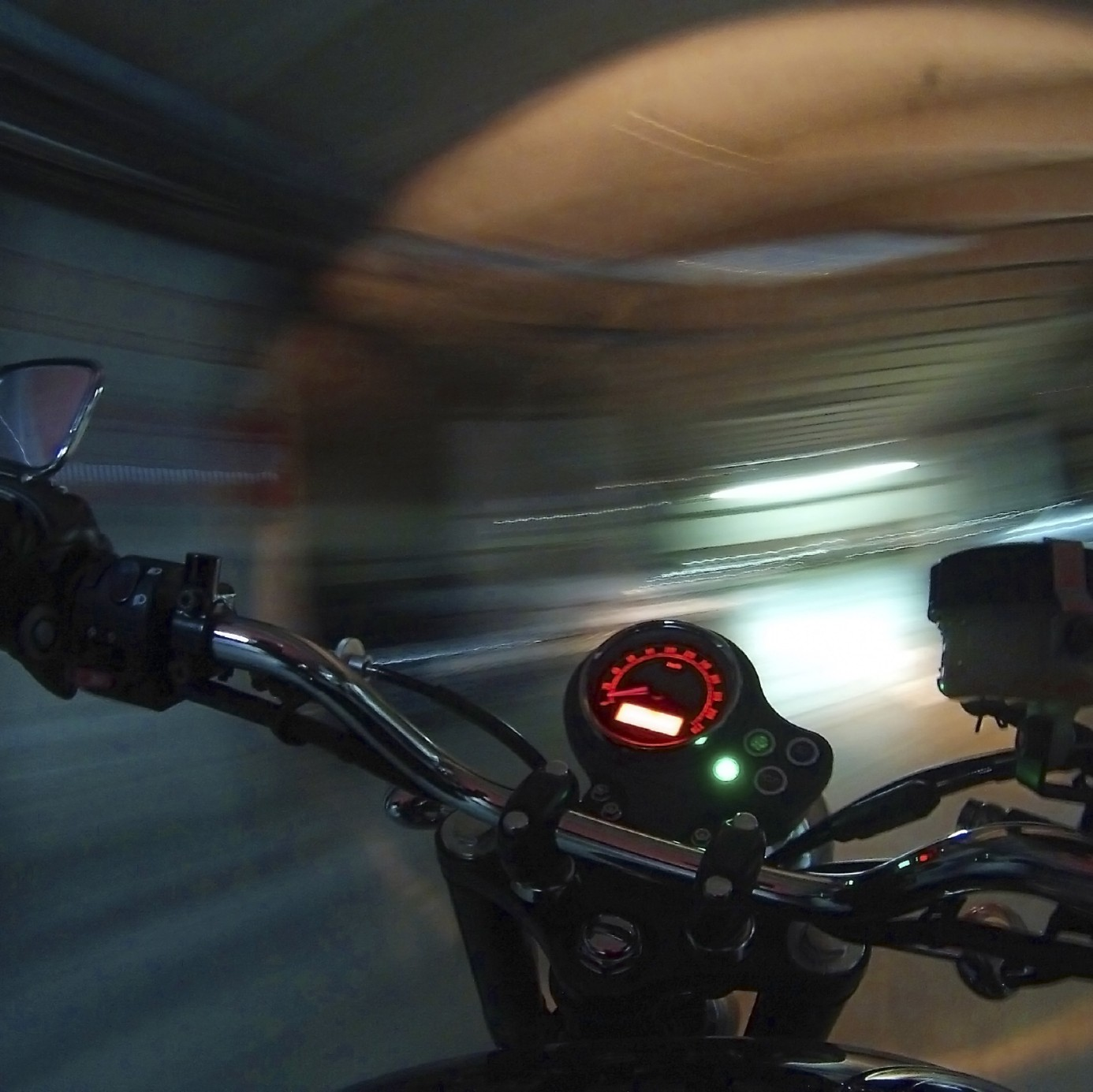 motorbike with GoPro Camera