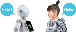 pepper robot with girl