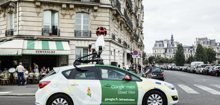 Google car on paris streets
