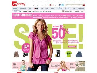 JC Penney home page