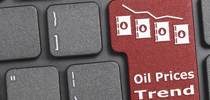 Oil prices trend key on keyboard