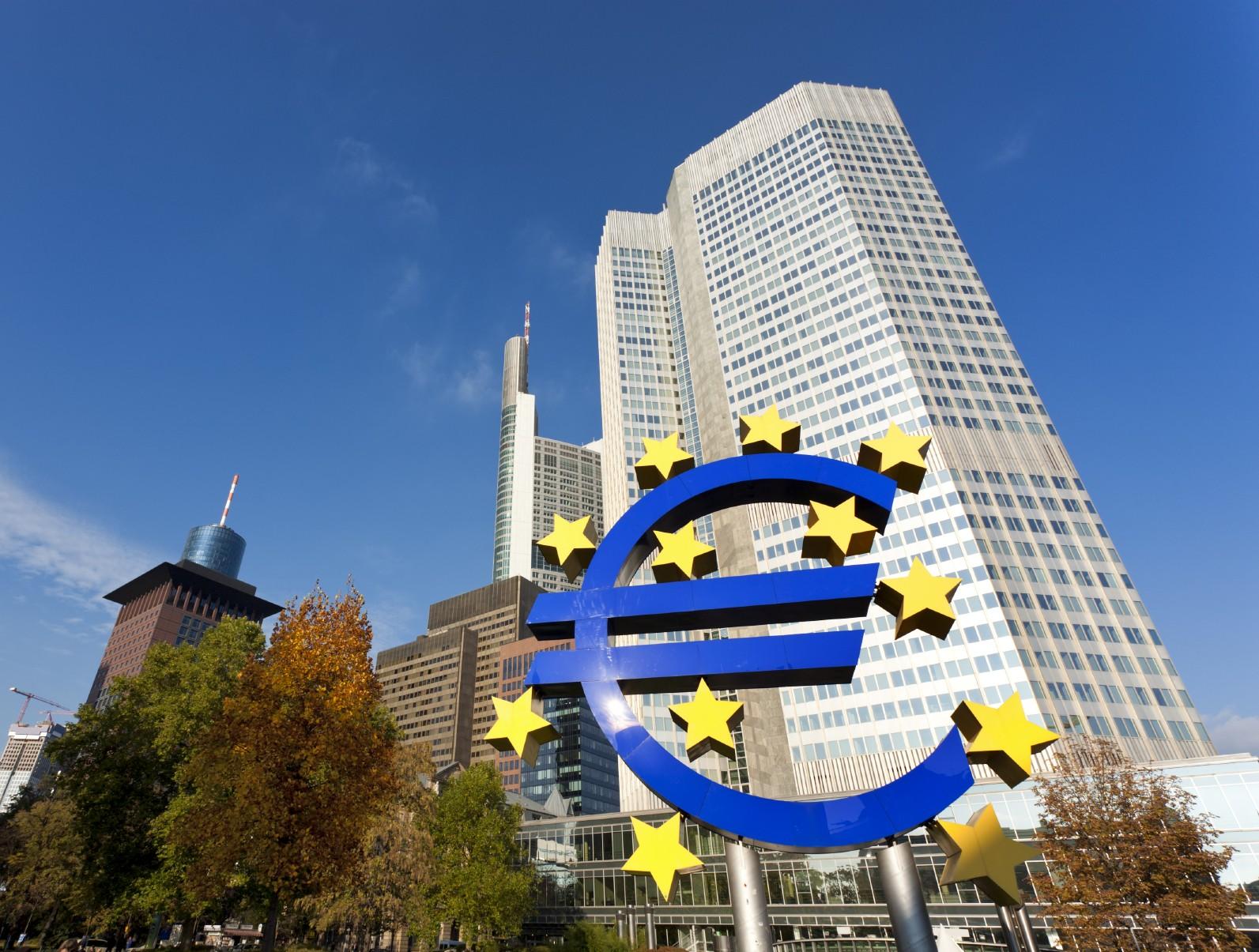 European Central Bank building at Frankfurt