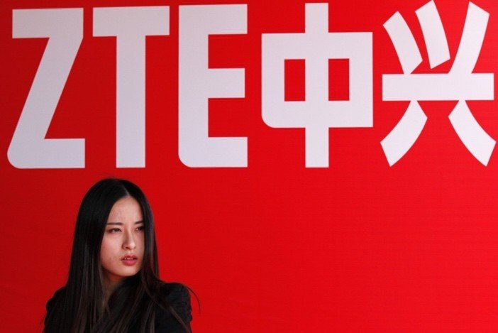 ZTE Sign and Woman