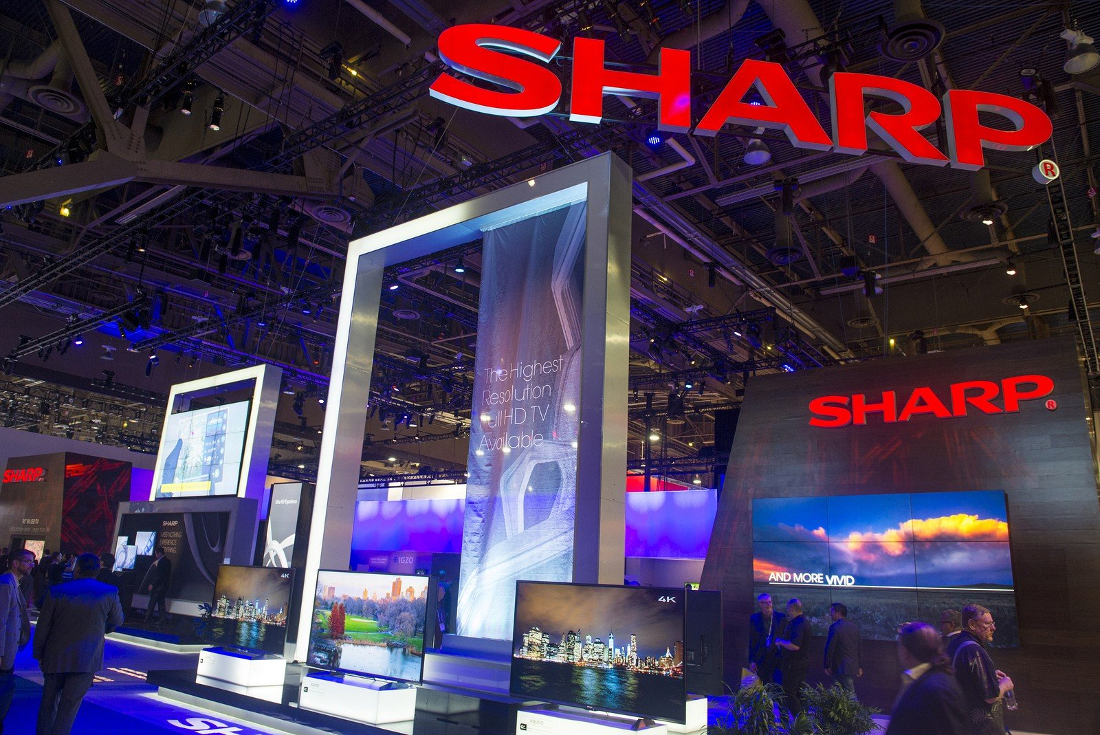 CES 2014 Sharp Booth