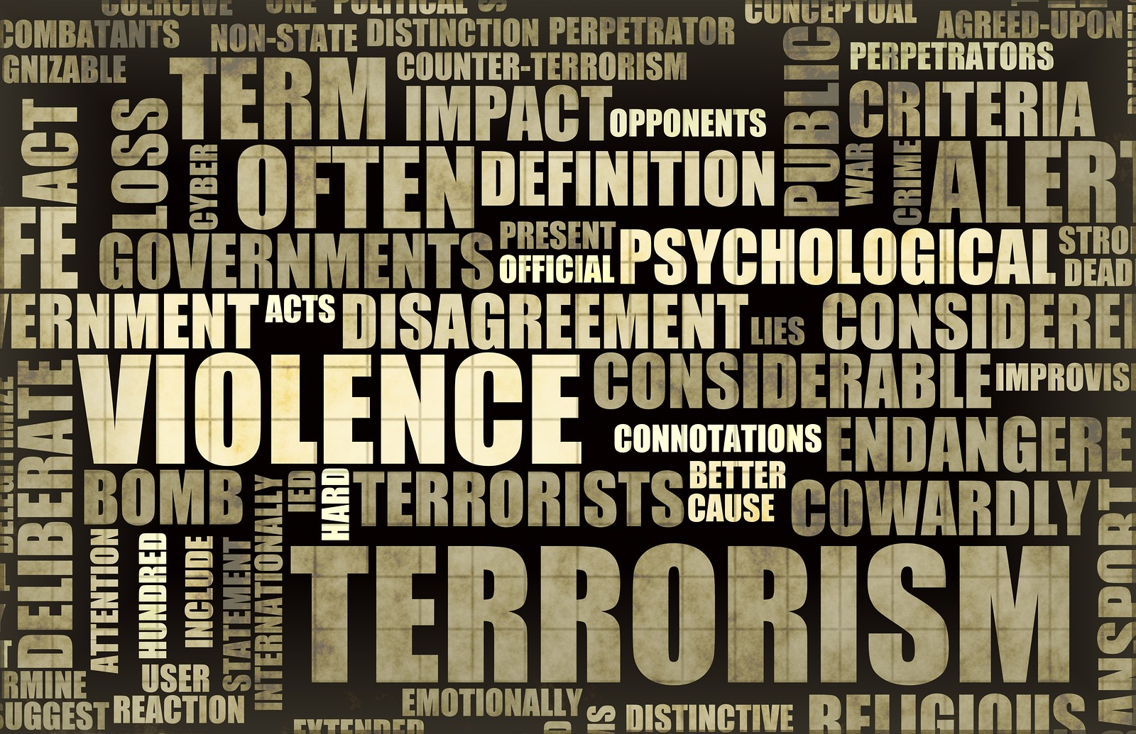 Terrorism in the News Headline Newspaper Art