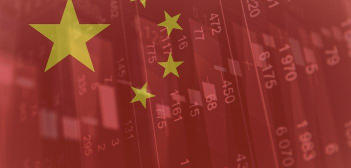 map of china with stock charts