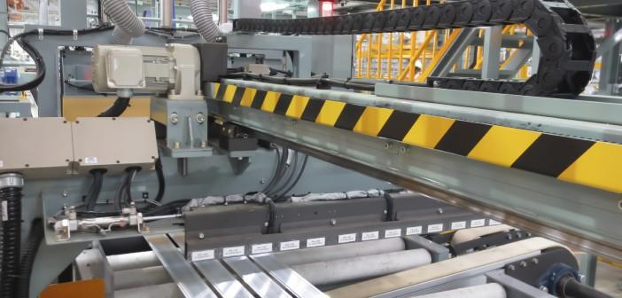 Cutting aluminum lines.