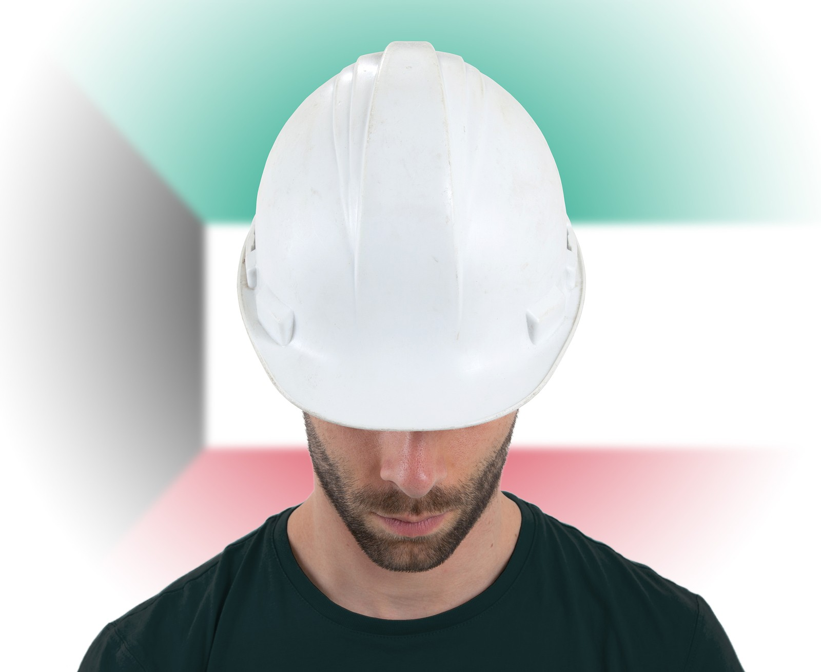 Engineer With Flag On Background - Kuwait