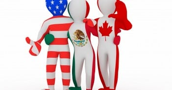 Nafta. People In Color Of National Flag.