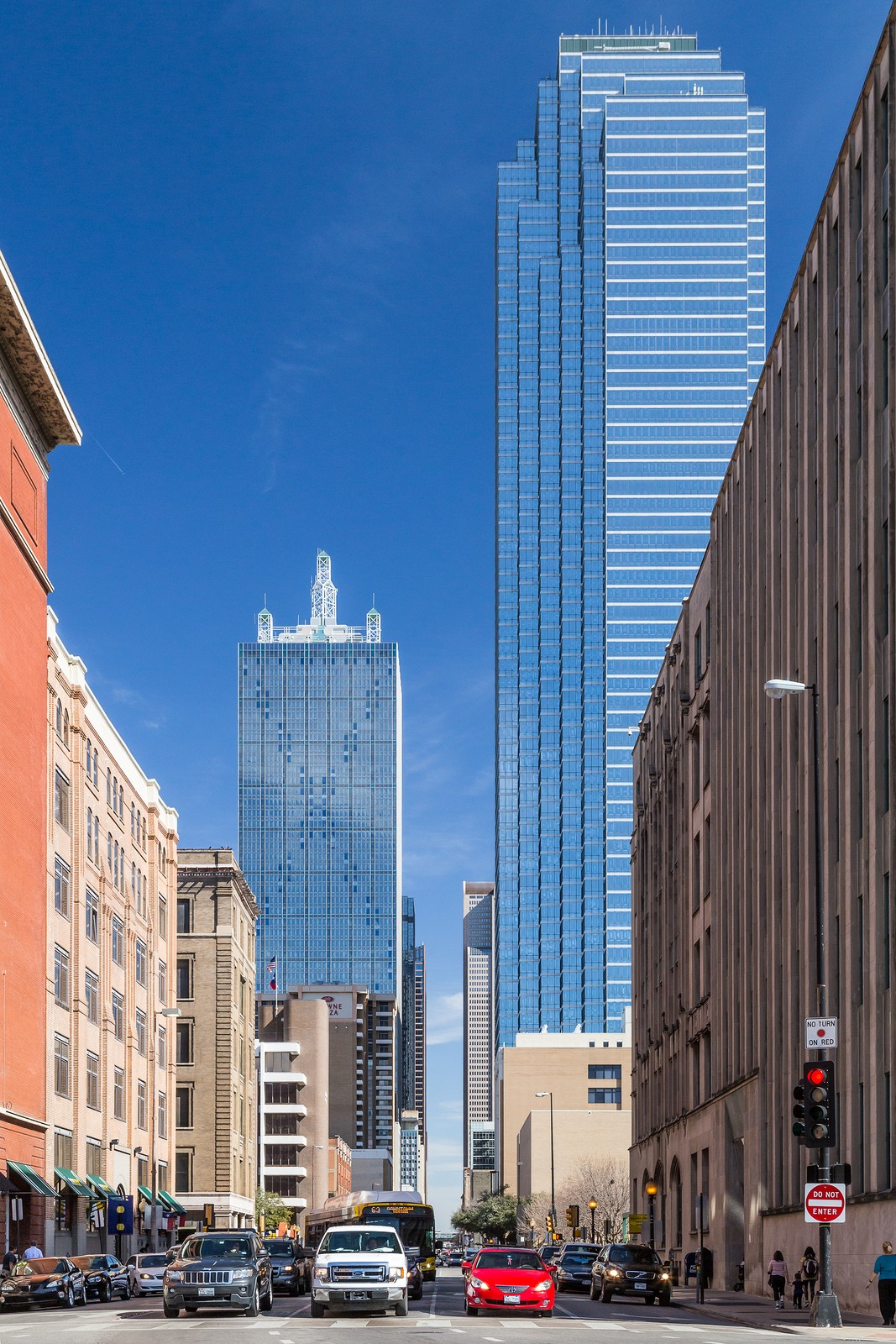 Elm Street in Downtown Dallas Texas