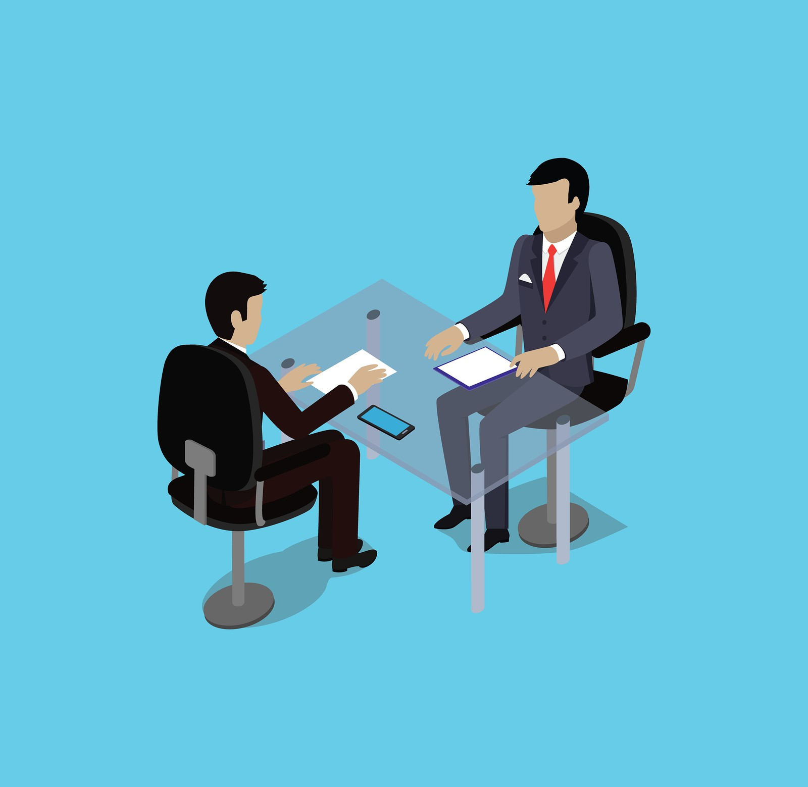 Isometric hiring recruiting interview. Look resume applicant employer. Hands Hold CV profile.