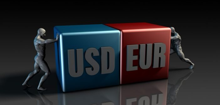 USD EUR Currency Pair or American Dollar vs Euro