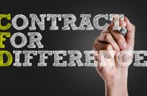 Hand writing the text: Contract for Difference